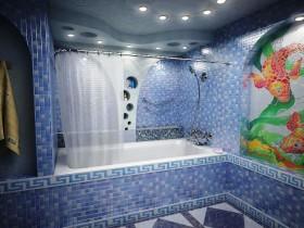 Ванная комната с элементами морского стиля