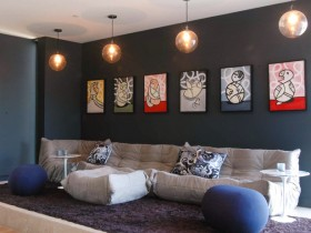 Elements of pop art style in interior
