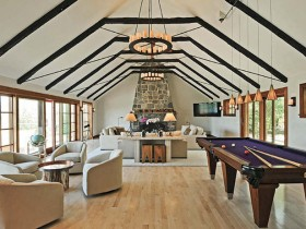 Living room with Billiards
