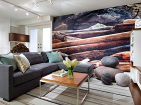 Photo Wallpapers in the living room design