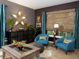 Вариант оформления гостиной комнаты