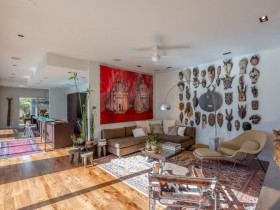 Living room with African elements