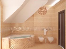 Ванная комната в персиковом оттенке