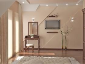 Красивый трельяж в светлой спальне