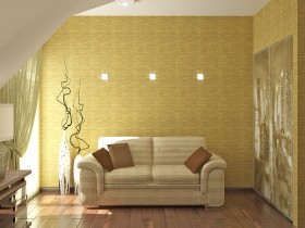 Bright sofa on background green Wallpaper in your personal Cabinet