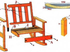 Blueprints for a rocking chair with their hands