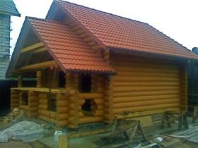 Двосхилий дах для лазні