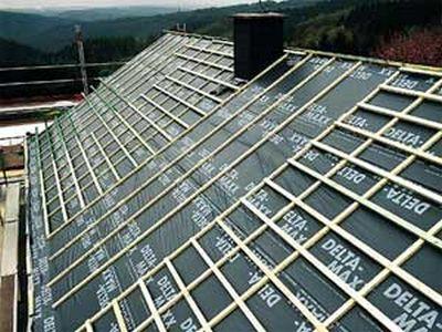 Обрешетка каркаса крыши бани