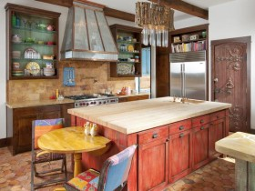 Beautiful kitchen interior wood