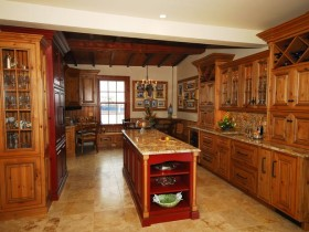 Luxury classic kitchen wood