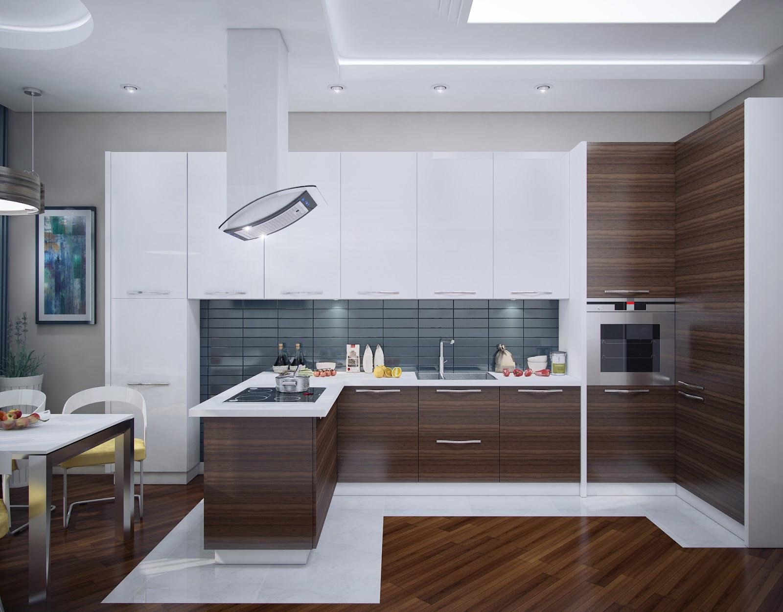 Кухни дизайн под дерево