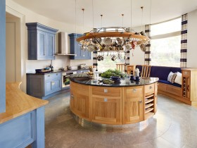 The idea of design round kitchen island
