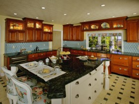 Classic kitchen design wood