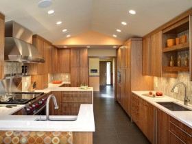 Large kitchen wood modern style