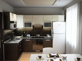 Interior small kitchen modern style