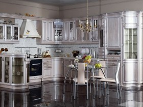 Luxury modern kitchen color metallic