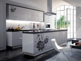 Modern, bright kitchen in a modern style