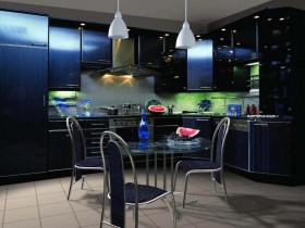 Dark kitchen in a modern style