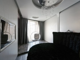The interior of the room in eclectic style