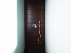 Shower room in minimalist style