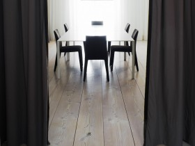 Dining room in a minimalist style