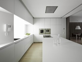 White kitchen in minimalist style