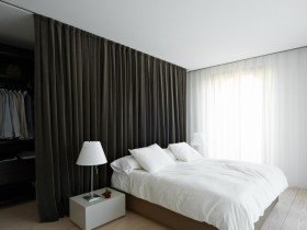 Bright bedroom in a minimalist style