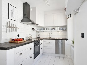 Bright kitchen in Scandinavian style