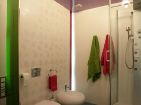 Creative design of the bathroom in the apartment