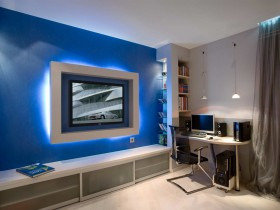 Interior room for a teenager in high-tech style