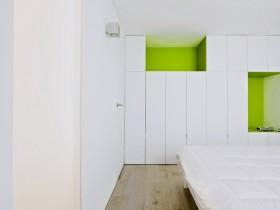 White bedroom in minimalist style