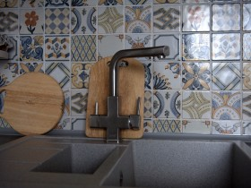 The design of the mixer in the kitchen