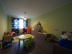 Bright children's room for boy