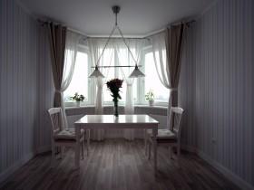 Світла їдальня в квартирі стилю Прованс