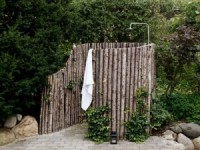 The idea of a summer shower in a rural garden