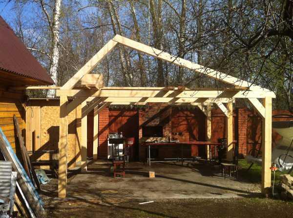 Кроем крышу на летней кухне