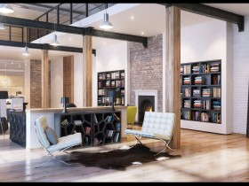 Design of a private house in loft style