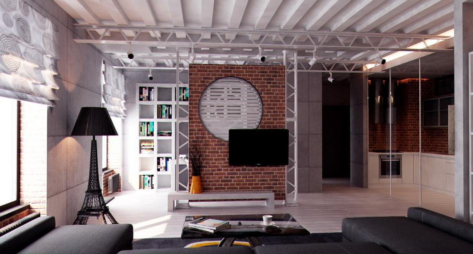 Дизайн проект квартиры стиль лофт