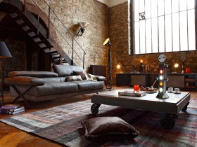 Design a two-storey house in the loft