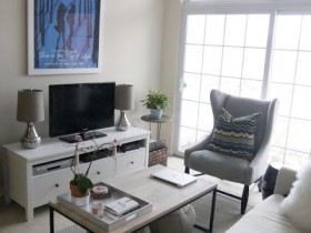 Современная белая гостиная