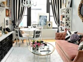 Стильная совмещенная гостиная