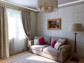 Красивая маленькая гостиная в классическом стиле