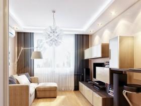 Стильная белая гостиная