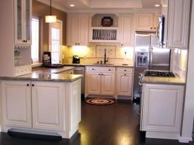 Layout small light kitchen