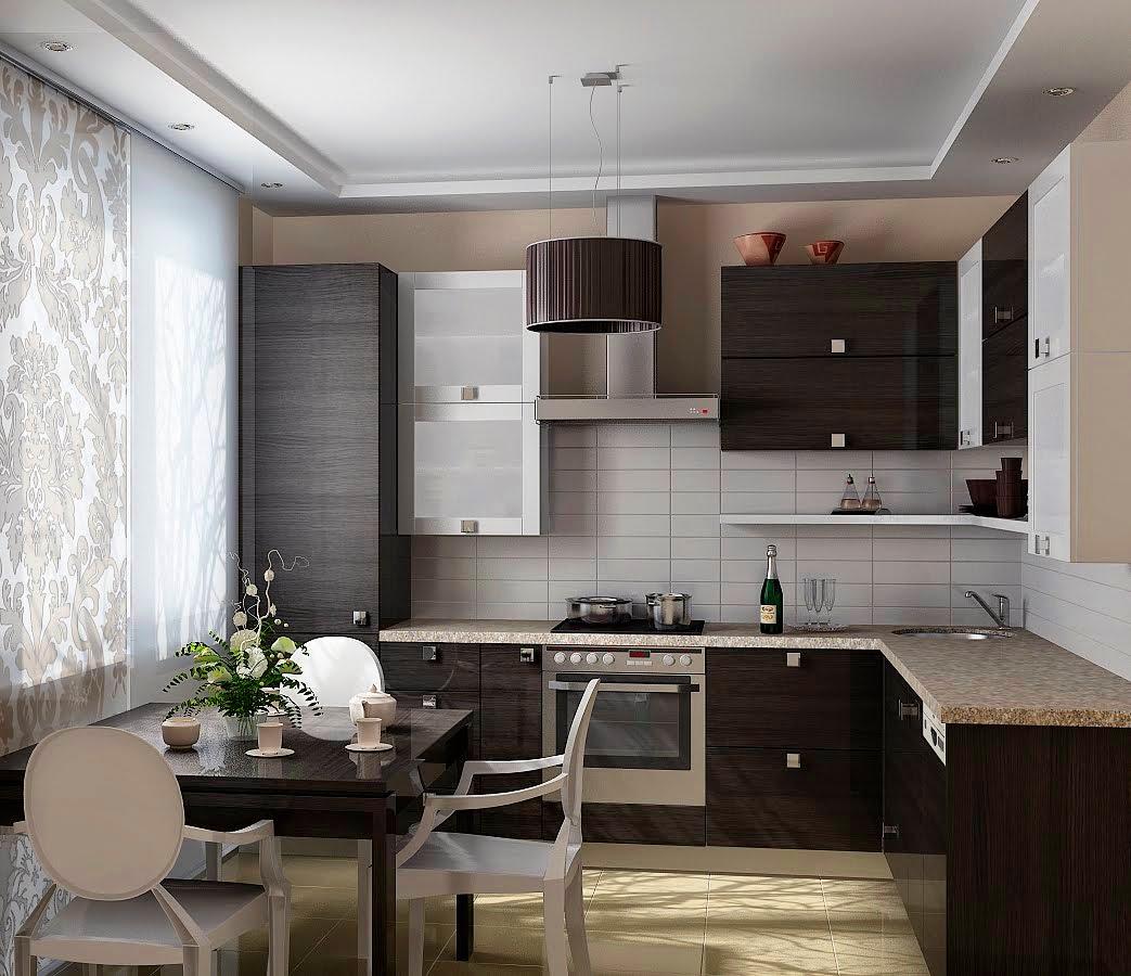 Современный дизайн небольших кухонь
