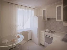 Cozy white kitchen small size