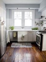Small white kitchen in a private home