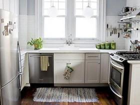 Small white kitchen in a private home