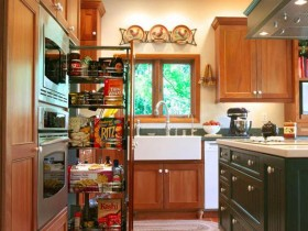 Practical cupboard in a small kitchen