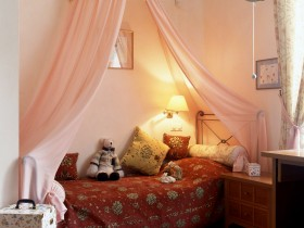 Children's room in pastel colours